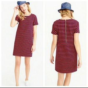 J. Crew Striped T-Shirt Dress - C6514 - Small